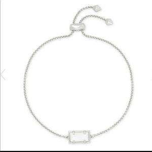 Kendra Scott Phillipa Chain White Pearl Bracelet